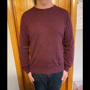 NEW J Crew Maroon Crew Neck Sweater